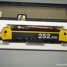 Trenes Escala: LOCOMOTORA ELÉCTRICA 252.035 DE RENFE MATRÍCULA 252-035-1 EN ESCALA *H0* DE LIMA. Lote 258261635