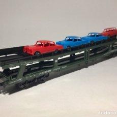 Trenes Escala: LIMA VAGÓN DB PLATAFORMA AUTOMÓVILES MERCEDES. Lote 261988290