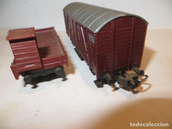 Trenes Escala: LOTE DE 2 VAGONES LIMA,REGALADOS MUY BUEN ESTADO - Foto 2 - 262105295