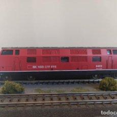 Trenes Escala: LIMA H0 LOCOMOTORA DIÉSEL AM 4/4 DE LOS SBB CFF FFS, REFERENCIA L201639 ANALÓGICA DC.. Lote 263582705