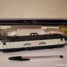 Comboios Escala: MAQUINA - AVE TREN BLANCO RENFE LIMA 252-009 - LOCOMOTORA ELECTRICA H0. Lote 267296974