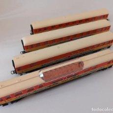"""Trenes Escala: 4 VAGONES DE LIMA, """"APPLE ARROW"""", VER FOTO, LARGO 28 CM, ENVIO 5,80 EUROS, LOT 41. Lote 278554488"""