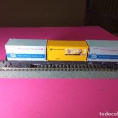 Trenes Escala: VAGÓN PORTACONTENEDOR ESCALA HO DE PIKO. Lote 290731643