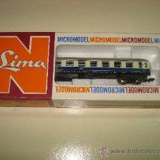 Trenes Escala: ANTIGUO COCHE 1ª CLASE PARA TRENES RAPIDOS DE DB 4 EJES A BOGGIES DE LIMA ESCALA *N* DEL AÑO 1965-70. Lote 27639388