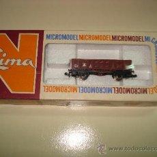 Trenes Escala: ANTIGUO VAGON TTE. DE MINERAL BORDE ALTO DE LIMA ESCALA *N* DEL AÑO 1965-70. Lote 27639371