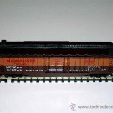 Trenes Escala: VAGÓN AMERICANO MERCANCÍAS 4 EJES, Cª MILWAUKEE ROAD, LIMA ESC. N, ORIGINAL AÑOS 70.. Lote 32597140