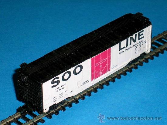Trenes Escala: Vagón americano mercancías 4 ejes, Cª SOO LINE, Lima esc. N, original años 70. - Foto 2 - 32597145