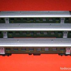 Trenes Escala: COMPOSICIÓN 3 COCHES FERROCARRILES SUIZOS SBB CFF SUIZA, LIMA ESC. N, ORIGINALES AÑOS 70-80.. Lote 74214299