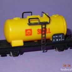 Trenes Escala: ANTIGUO VAGÓN CISTERNA SHELL EN ESCALA *N* DE LIMA. Lote 82512672
