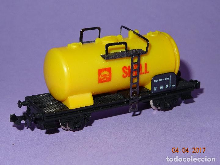 Trenes Escala: Antiguo Vagón Cisterna SHELL en Escala *N* de LIMA - Foto 4 - 82512672