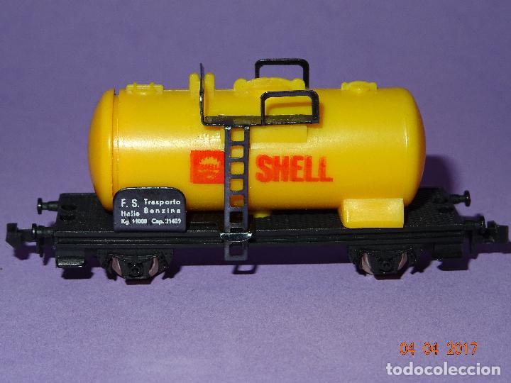 Trenes Escala: Antiguo Vagón Cisterna SHELL en Escala *N* de LIMA - Foto 6 - 82512672