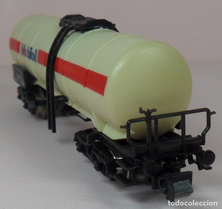 Trenes Escala: LIMA N - Vagón largo cisterna MOBILOIL - Foto 3 - 85292940