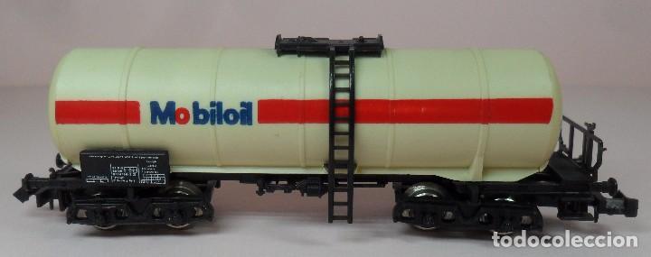 Trenes Escala: LIMA N - Vagón largo cisterna MOBILOIL - Foto 4 - 85292940