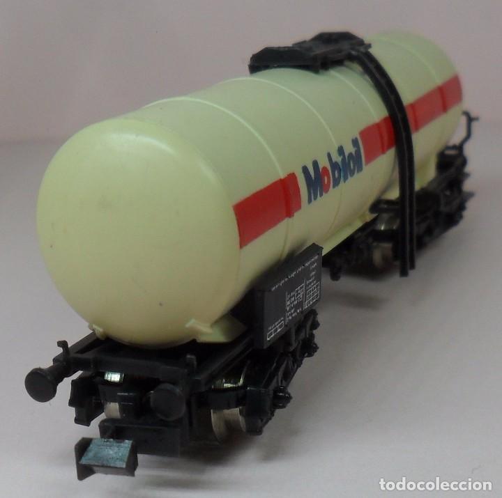 Trenes Escala: LIMA N - Vagón largo cisterna MOBILOIL - Foto 5 - 85292940