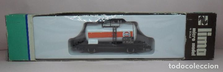 LIMA N - VAGÓN CISTERNA GULF - CON CAJA ORIGINAL (Juguetes - Trenes a Escala N - Lima N)