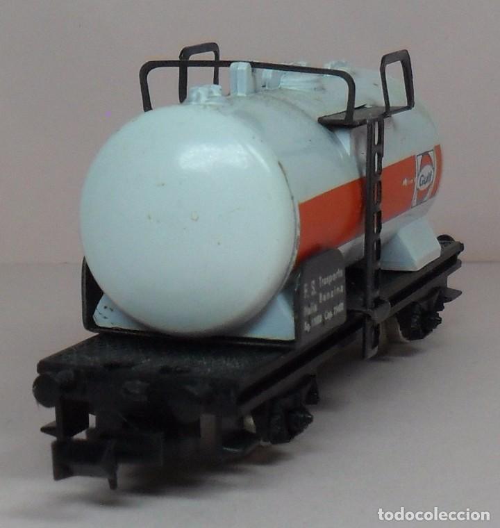 Trenes Escala: LIMA N - Vagón cisterna GULF - Con caja original - Foto 3 - 89622900