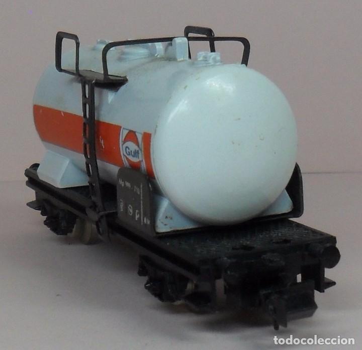 Trenes Escala: LIMA N - Vagón cisterna GULF - Con caja original - Foto 4 - 89622900