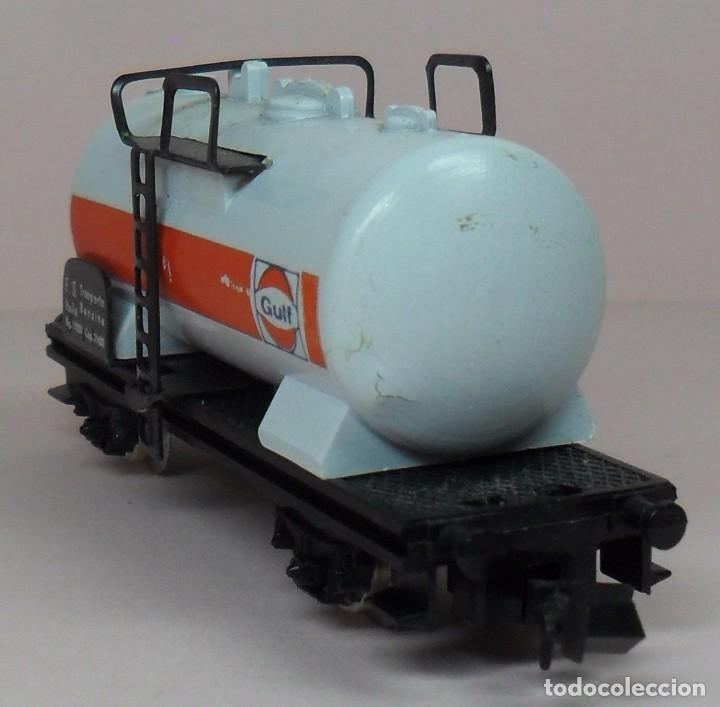 Trenes Escala: LIMA N - Vagón cisterna GULF - Con caja original - Foto 7 - 89622900