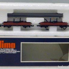 Trenes Escala: VAGÓN MERCANCÍAS TRANSPORTE LIMA N CON CAJA . Lote 101999067