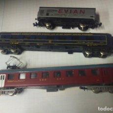 Trenes Escala: LOTE VAGONES LIMA RESTAURANT - VOITURE SALON - EVIAN. Lote 121143655