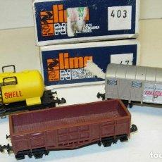 Trenes Escala: LOTE 3 VAGONES LIMA N, SHELL, FIAT.... Lote 124131307