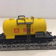 Trenes Escala: LIMA - VAGON CISTERNA SHELL (MODELO DE METAL) ESCALA N. Lote 135912162
