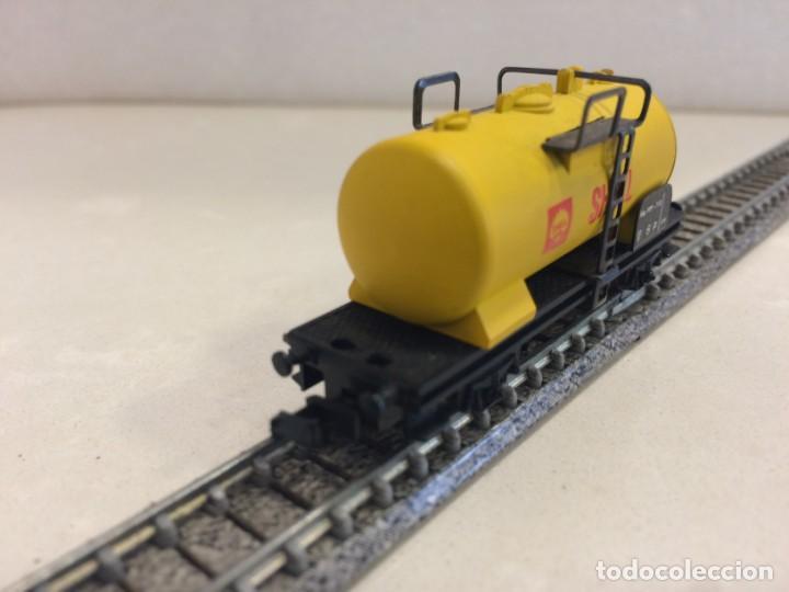 Trenes Escala: Lima - vagon cisterna shell (modelo de metal) escala N - Foto 2 - 135912162