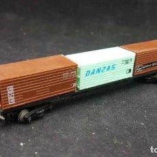 Trenes Escala: LIMA 726 PLATAFORMA CON CONTENEDOR ESCALA N. Lote 152874662