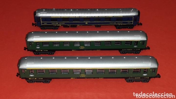 2 X COCHE VIAJEROS 1ª CLASE 8000 RENFE + VOITURE SALON, LIMA ITALY, ESC. N, ORIGINAL AÑOS 80. (Juguetes - Trenes a Escala N - Lima N)