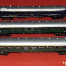 Trenes Escala: 2 X COCHE VIAJEROS 1ª CLASE 8000 RENFE + VOITURE SALON, LIMA ITALY, ESC. N, ORIGINAL AÑOS 80.. Lote 172589543