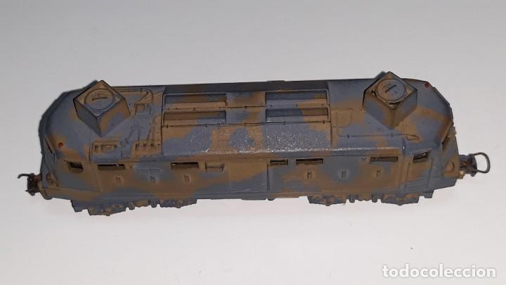Trenes Escala: LIMA : ANTIGUA LOCOMOTORA MILITAR E 424 143 ESCALA N AÑOS 70 MADE IN ITALY - Foto 2 - 185735143