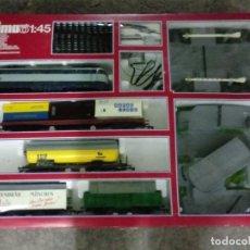 Trenes Escala: CAJA TREN MARCA LIMA 1/45 SCALE CON ACCESORIOS . NUEVA . COMPLETA. AÑOS 80. Lote 191581747