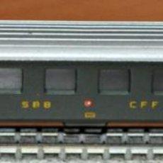 Trenes Escala: COCHE DE VIAJEROS 4 EJES 2ª CLASE DE LA SBB CFF DE LIMA, REF. 318. ESCALA N, VÁLIDO IBERTREN.. Lote 191826840