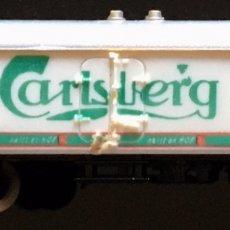 Trenes Escala: VAGON CERRADO CARLSBERG. Lote 192771942
