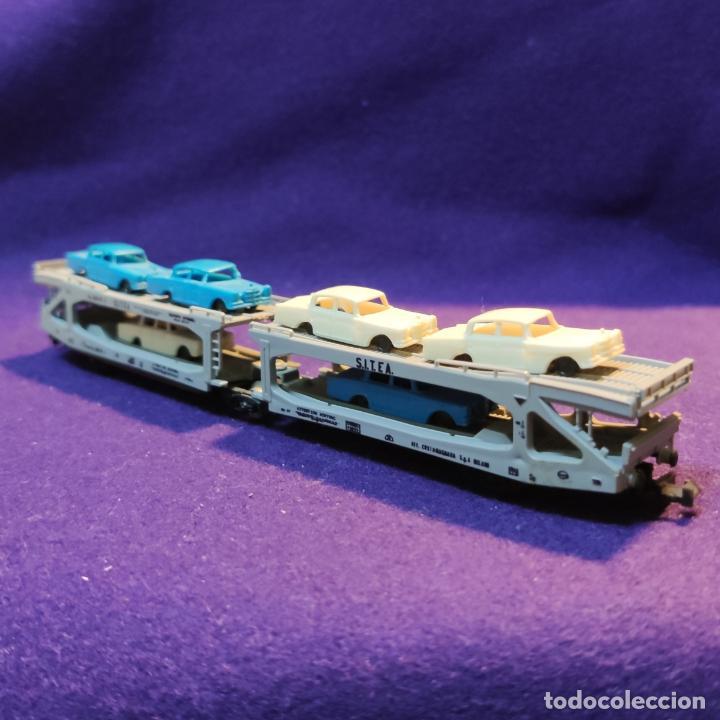 Trenes Escala: VAGON CON COCHES MERCEDES. LIMA ITALY. ESCALA N. TREN. - Foto 2 - 194139273