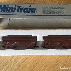Trenes Escala: LIMA MINITRAIN 2 VAGONES AUTODESCARGABLES.. Lote 194640721