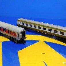Trenes Escala: LOTE 2 VAGONES ESCALA N LIMA - PASAJEROS REF. 3425 Y 316610 BUEN ESTADO . Lote 195948537