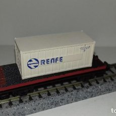Trenes Escala: LIMA N PLATAFORMA CON CONTENEDOR --- L46-045 (CON COMPRA DE 5 LOTES O MAS, ENVÍO GRATIS). Lote 213000658
