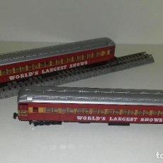 Trenes Escala: LIMA N 2 VAGONES PASAJEROS WORLD SHOWS -- REV-8 (CON COMPRA DE 5 LOTES O MAS, ENVÍO GRATIS). Lote 217263915