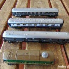 Trenes Escala: LOTE DE 3 VAGONES ,MARCADOS LIMA Y UNA LOCOMOTORA ESCALA N. Lote 219264887