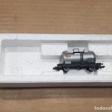 Trenes Escala: VAGÓN CISTERNA ESSO CON CAJA. Lote 233849725