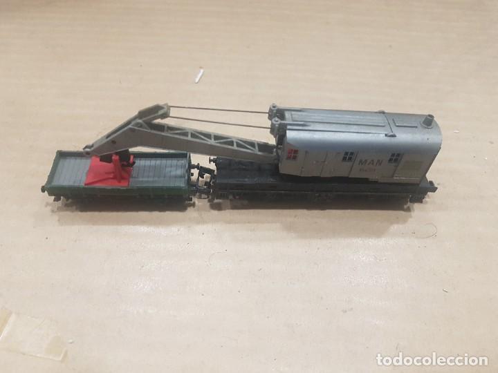 Trenes Escala: Vagón grúa man con caja deteriorada - Foto 2 - 233927480