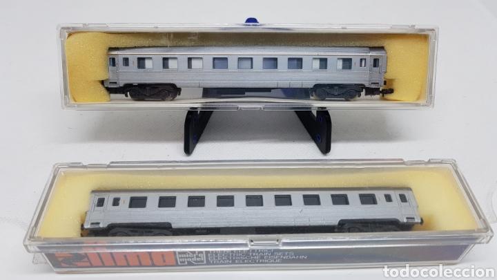 Trenes Escala: LOTE 2 VAGONES PASAJEROS TREN LIMA ESCALA N MODELO 309 NUEVOS AÑOS 70 - Foto 2 - 254446765