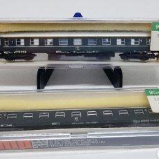 Trenes Escala: LOTE 2 VAGONES PASAJEROS TREN LIMA ESCALA N MODELO 301 NUEVOS AÑOS 70. Lote 254447515