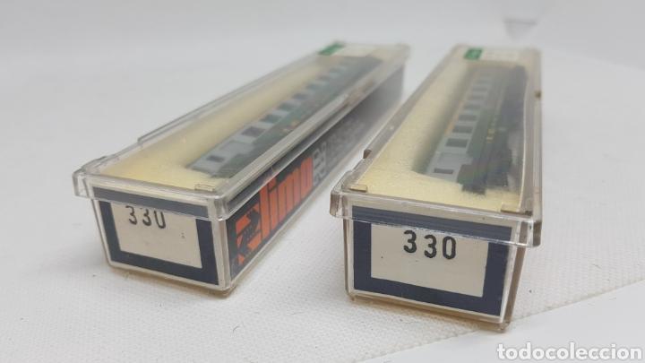 Trenes Escala: LOTE 2 VAGONES PASAJEROS TREN LIMA ESCALA N MODELO 330 NUEVOS AÑOS 70 - Foto 3 - 254447710