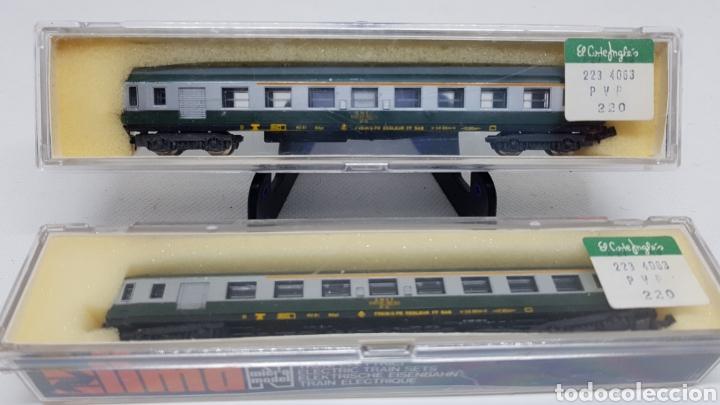 LOTE 2 VAGONES PASAJEROS TREN LIMA ESCALA N MODELO 330 NUEVOS AÑOS 70 (Juguetes - Trenes a Escala N - Lima N)