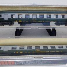 Trenes Escala: LOTE 2 VAGONES PASAJEROS TREN LIMA ESCALA N MODELO 330 NUEVOS AÑOS 70. Lote 254447710