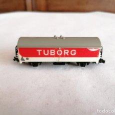 Trenes Escala: LIMA N VAGÓN CERRADO REFRIGERADO TUBORG DB ALEMÁN. Lote 258259915