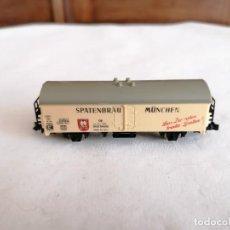 Trenes Escala: LIMA N VAGÓN CERRADO CERVECERO SPATENBRÄU MÜNCHEN DB ALEMÁN PERFECTO ESTADO. Lote 258262505