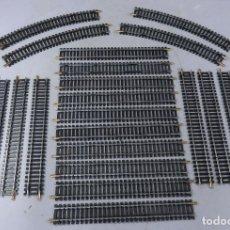 Trenes Escala: LOTE 22 VÍAS LIMA N 4 CURVAS REF 3011 18 RECTAS REF 3020. Lote 269241098